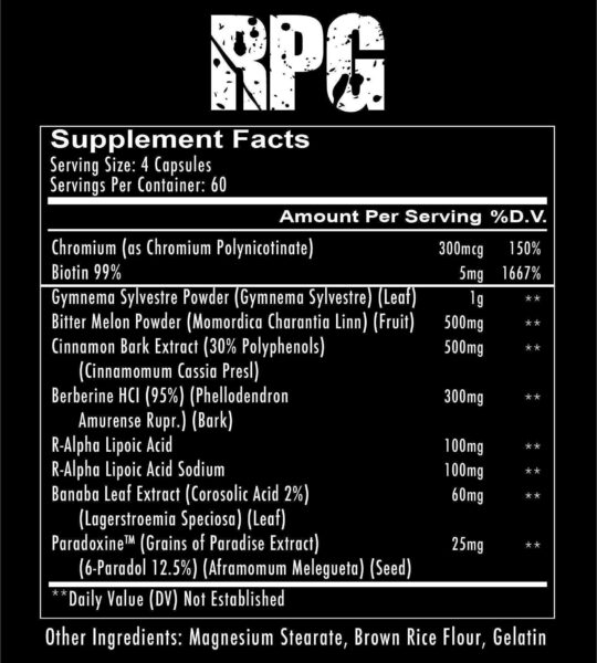 supplements rpg glucose disposal 3 spo high-end supps