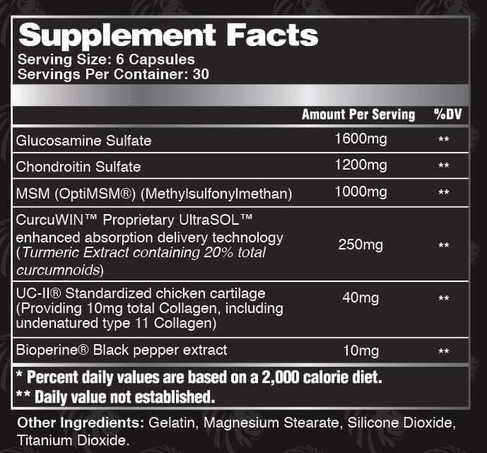alphaLion cyborg supplement facts high-end supps