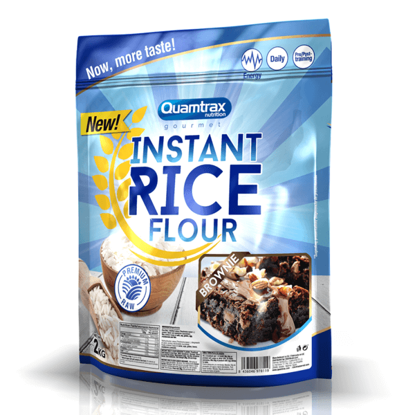QUAMTRAX GOURMET HARINA ARROZ Instant Rice Flour 2kg Brownie high-end supps