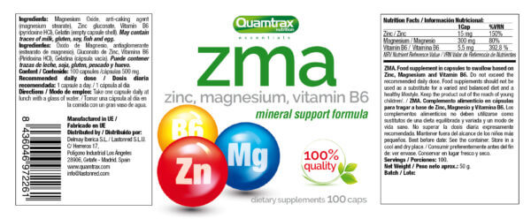34 ZMA 100 caps 180 x 70 high-end supps