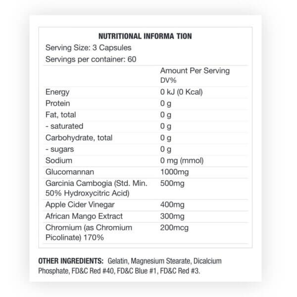 suppress appetite control nutritional high-end supps