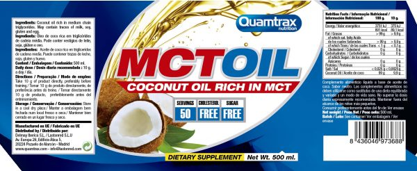 Quamtrax Nutrition MCT Oil Nutrition Label 500 ML 600x246 2 high-end supps