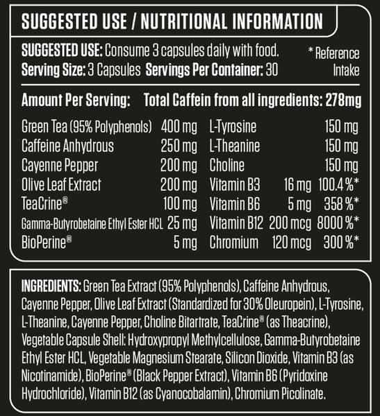 applied nutrition shred x Suppfacts high-end supps