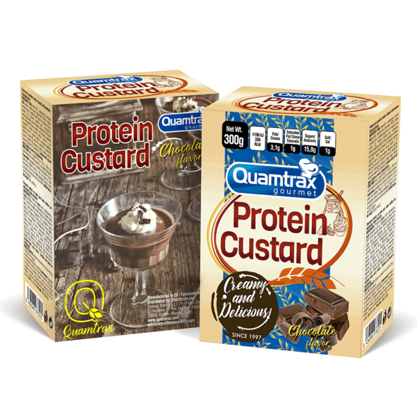 Quamtrax Nutrition Protein Custard Chocolate high-end supps