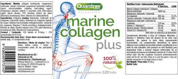 quamtrax collagen 120capsules panel high-end supps