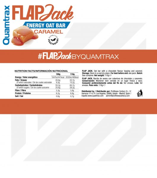 quamtrax flapjack caramel panel high-end supps