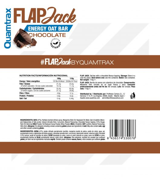 quamtrax flapjack chocolate panel high-end supps