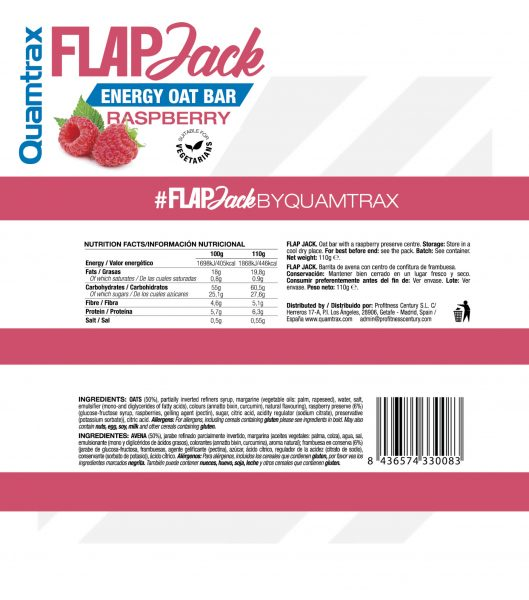 quamtrax flapjack raspberry panel high-end supps