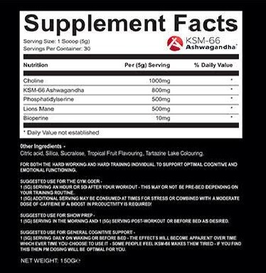 supportmax neuro info high-end supps