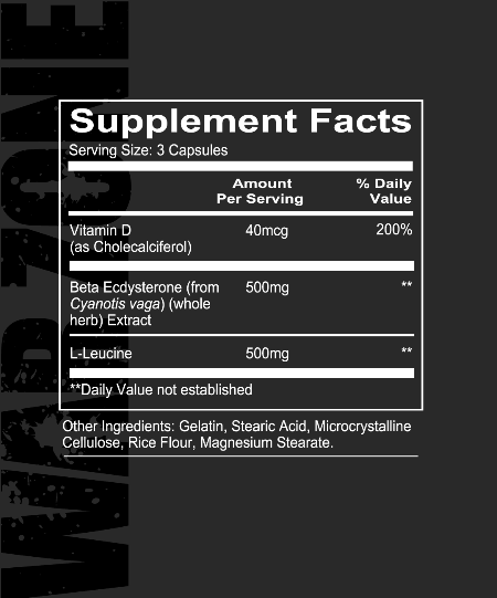Redcon1 WARZONE Nutrition Label high-end supps