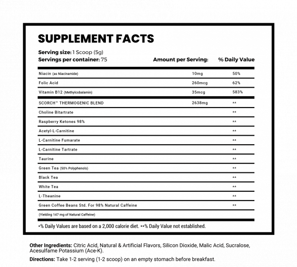 sup facts scorch pow high-end supps