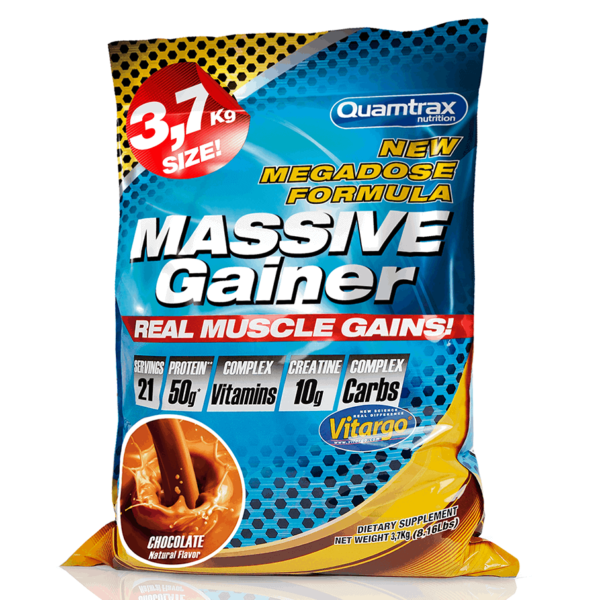 Quamtrax Nutrition Massive Gainer Chocolate high-end supps